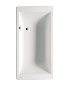 Roca Vythos 1800 x 900mm Double-Ended Acrylic Bath With No Tapholes