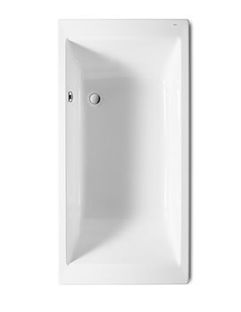 Roca Vythos 1700 x 800mm Single-Ended Acrylic Bath With No Tapholes