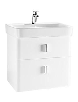 Roca Senso Square Matt White 2 Drawer Base Unit For 65cm Basin