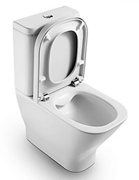 Roca The Gap Moulded Back-To-Wall Rimless Close Coupled WC And Cistern