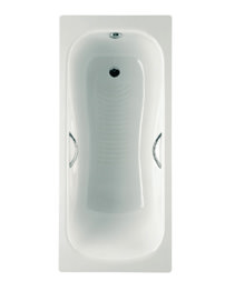 Roca Princess-N 1700 x 750mm Steel Bath With Anti-Slip And 2 Taphole
