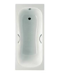 Roca Princess-N 1700 x 750mm Steel Bath With Anti-Slip And 2 Taphole