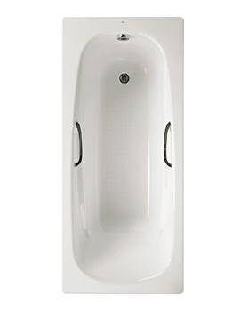 Roca Carla Eco Anti-Slip Steel Bath With Grip Holes - L 1700 x W 700mm