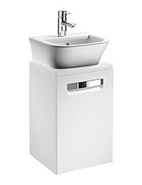 Roca The Gap Matt White Base Unit With Door For 400mm Basin
