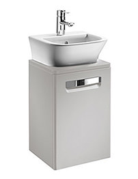 Roca The Gap Matt Beige Base Unit With Door For 400mm Basin