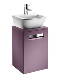 Roca The Gap Matt Grape Base Unit With Door For 400mm Basin