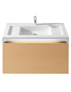 Roca Stratum Base Unit With Light For 900mm Basin - Light Oak