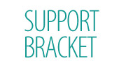 Support bracket for basin