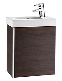 Roca Mini Basin And Base Unit - Textured Wenge