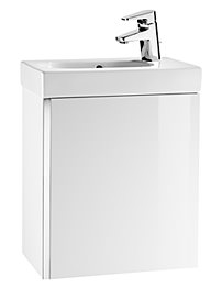 Roca Mini Basin And Base Unit - Gloss White