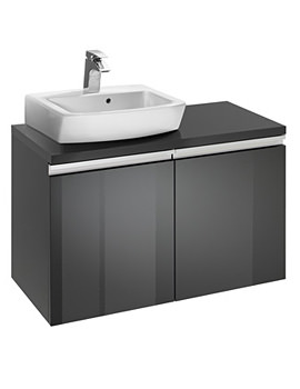 Roca H And H Wall-Hung Left-Handed 2-Drawer Vanity Unit - W 820 x H 583mm
