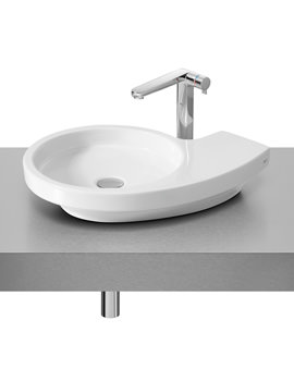 Roca Urbi 3 Over Countertop 580 x 400mm Basin With No Taphole