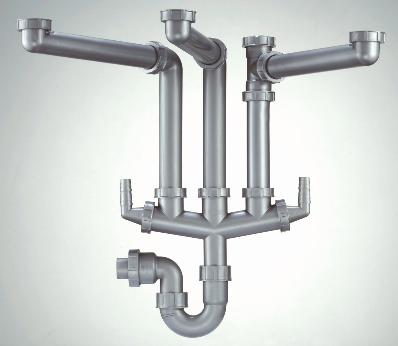 ... Brand New Franke Siphon III Plumbing Kit For Triple Bowl Kitchen Sink