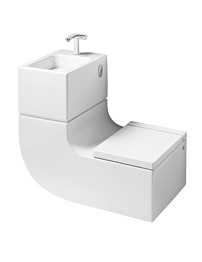 Roca W Plus W Wall Hung WC And Basin Including Tap And Waste
