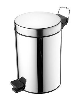 Ideal Standard IOM Stainless Steel Pedal Waste Bin 3 Litre