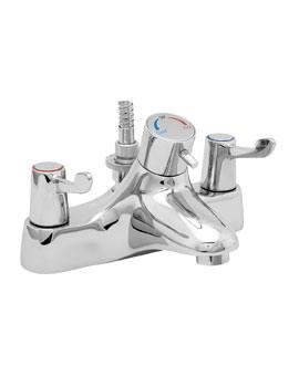Deva Deck Mounted Thermostatic Bath Shower Mixer Tap Chrome