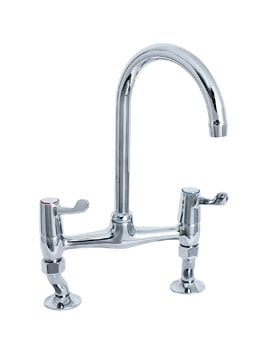 Deva Lever Action 3 Inch Lever Bridge Sink Mixer Tap
