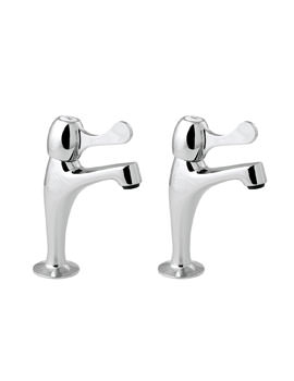 Deva Lever Action Contract Sink Pillar Taps Chrome