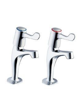 Deva Lever Action 3 Inch Lever Sink Taps With Metal Backnut