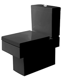 Duravit Vero Black Close Coupled Toilet And Cistern With Seat And Cover