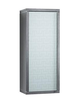 Roca Veranda-N 400 x 986mm Straight Column Unit With Native White Glass Door