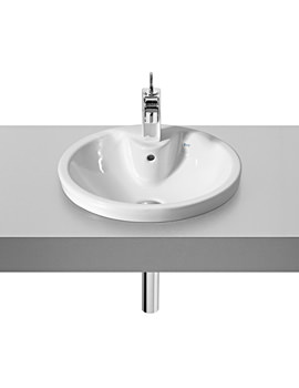 Roca Veranda-N 460mm In Countertop Basin With 1 Tap Hole