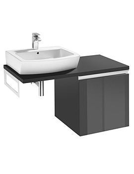 Roca H And H Vanity Unit With Single Drawer And Towel Rail