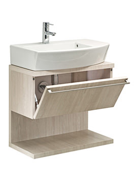 Roca Hall Base Unit With Pull Down Door 660mm - Limed Oak