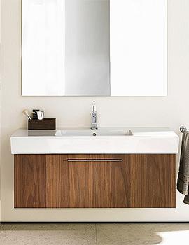 Duravit Fogo American Walnut 1150mm Vanity Unit With 1200mm Basin