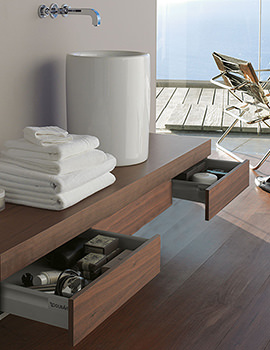 Duravit Fogo American Walnut 1800mm Console With 2 Drawers