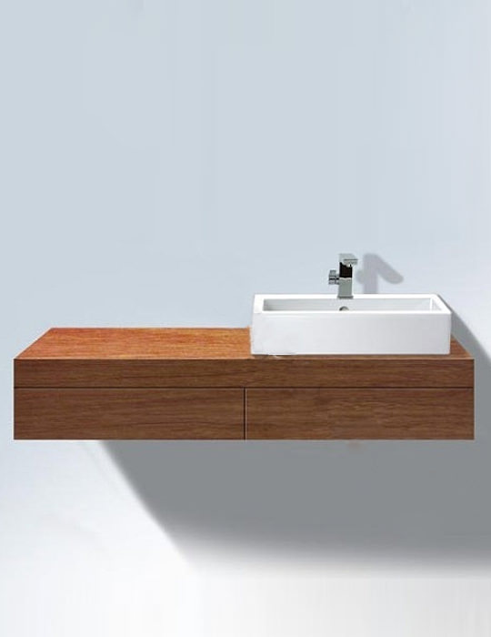 duravit fogo american walnut 1200mm console with right cut out. Black Bedroom Furniture Sets. Home Design Ideas