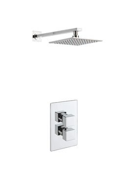 Tre Mercati Geysir Concealed Shower Valve With Overhead Arm And Rose