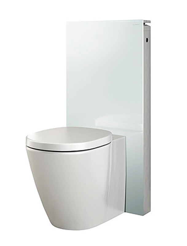 geberit white monolith sanitary module for floor standing wc with p bend. Black Bedroom Furniture Sets. Home Design Ideas