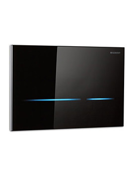 Geberit Sigma80 Dual Flush Plate Touchless For 12cm UP320-Black Glass