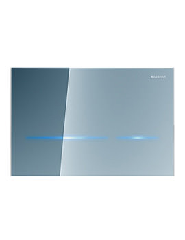 Geberit Sigma80 Dual Flush Plate Touchless For 12cm UP320-Mirrored Glass
