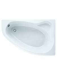 Adamsez Arc 1500 x 1000mm Right Hand Offset Corner Shower Bath