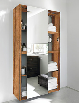 Duravit 2nd Floor Rosewood 1000mm Tall Cabinet With Lighting