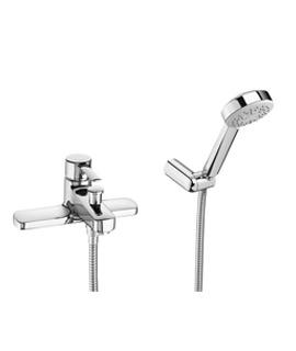 Roca Targa Bath-Shower Mixer Tap With Kit - Deck Mounted