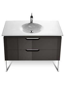 Roca Kalahari-N Gloss Anthracite Grey Base Unit For 1000mm Basin