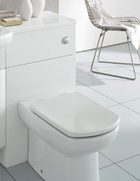 Roca Smooth 480mm White Back To Wall WC Unit With Cistern And Worktop