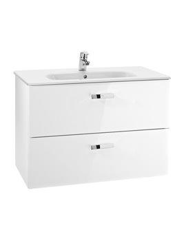 Roca Victoria Basic Unik Basin And Furniture 800mm - Gloss White
