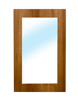 Roca Smooth 750 x 470mm Mirror With Medium Walnut Frame