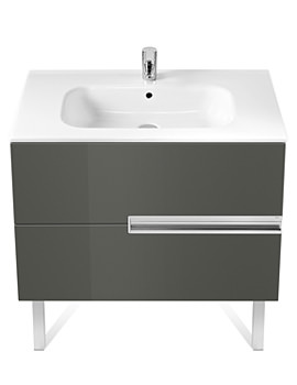 Roca Victoria-N Unik Basin And Unit With 2 Drawers 1000mm - Grey