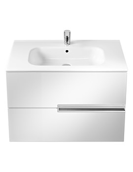 Roca Victoria-N Unik Basin And Unit With 2 Drawers 800mm - White