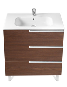 Roca Victoria-N Unik Basin And Unit With 3 Drawers 600mm - Wenge