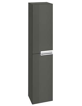 Roca Victoria-N 350 x 1500mm Column Unit Gloss Anthracite Grey