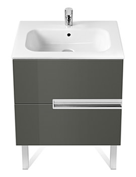 Roca Victoria-N Unik Basin And Unit With 2 Drawers 600mm - Grey