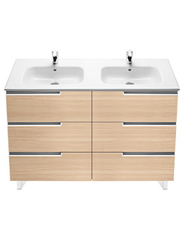 Roca Victoria-N Unik Basin And Unit With 6 Drawers 1200mm - Oak