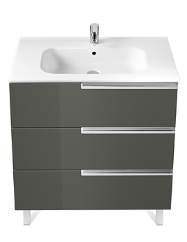 Roca Victoria-N Unik Basin And Unit With 3 Drawers 1000mm - Grey