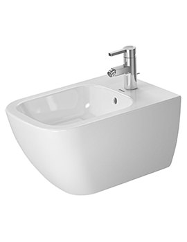 Duravit Happy D2 355 x 540mm 1 Tap Hole Wall Mounted Bidet